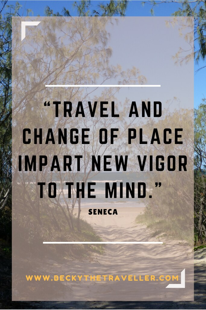 "Travel quotes - Inspirational travel quotes - ""Travel and change of place impart new vigor to the mind."" – Seneca"