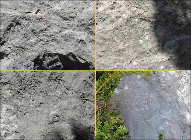 Berguedà - Zona Fígols -03- Grau de La Mola - 06- Nombres al pie