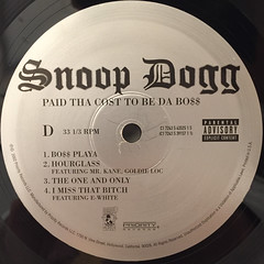 SNOOP DOGG:PUT THA COST TO BE DA BO$$(LABEL SIDE-D)