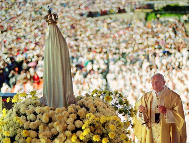 Juan Pablo II en Fátima 12 de mayo de 1991