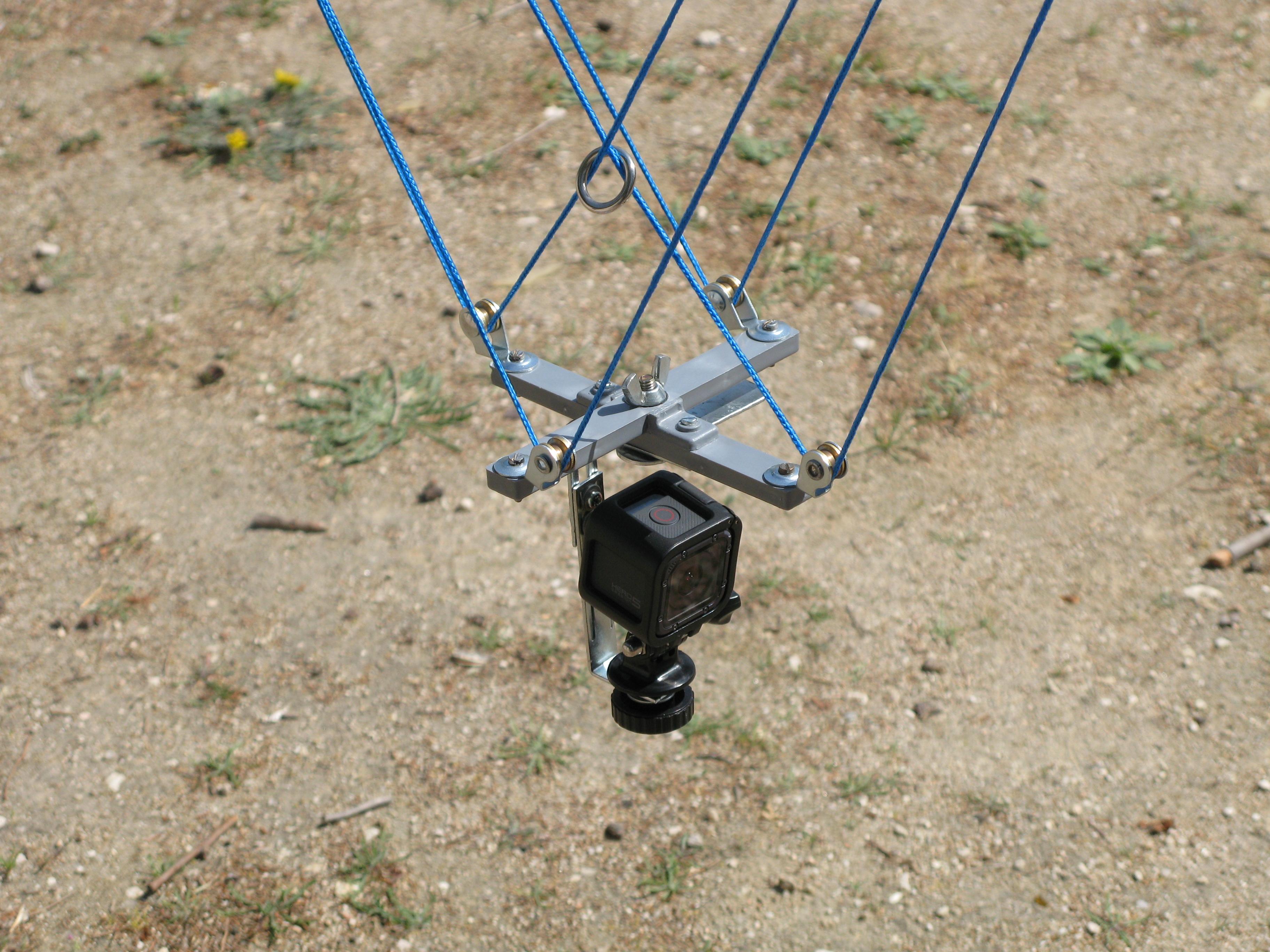 Sistema de suspensión Picavet con GoPro 5. Construido por Juan Antonio Muñoz López