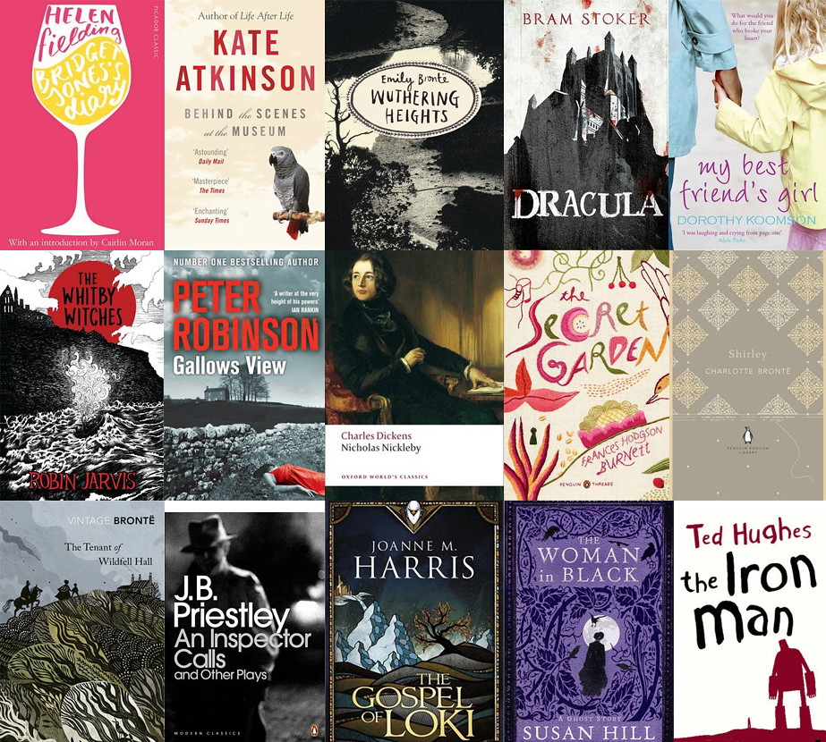 fifty books to celebrate yorkshire day, yorkshire day celebrations, reading list for yorkshire day, books set in yorkshire