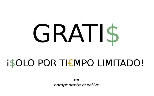 Gratis por tiempo limitado, componente creativo, Anes Ortigosa