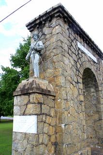 Calhoun, GA Memorial Arch - Confederate Soldier