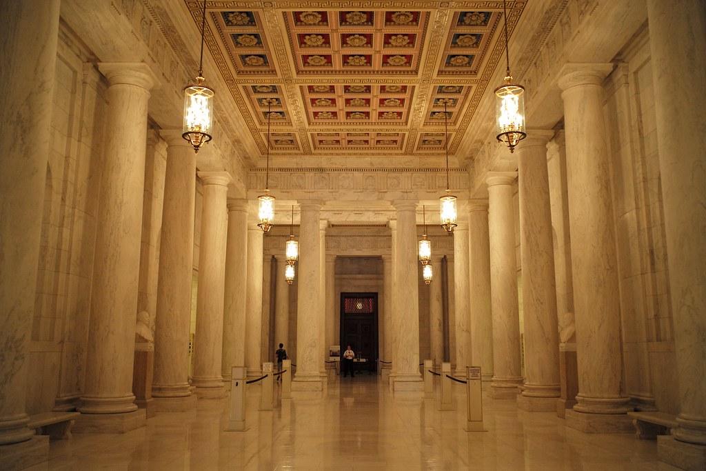 Us Supreme Court Lobby Washington Dc Roman Boed Flickr