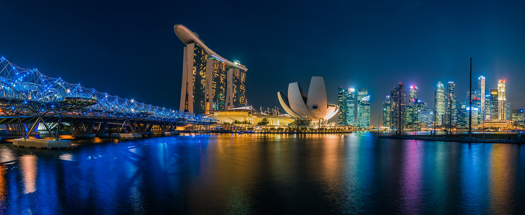 Singapur skyline marina bay singapur hat mich schwer fas flickr - Singapur skyline pool ...