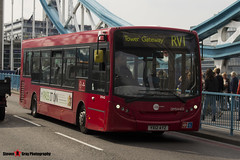 Alexander Dennis Enviro 200 - YX12 AYZ - DMV44221 - Tower Transit - Tower Bridge London - 140923 - Steven Gray - IMG_9495