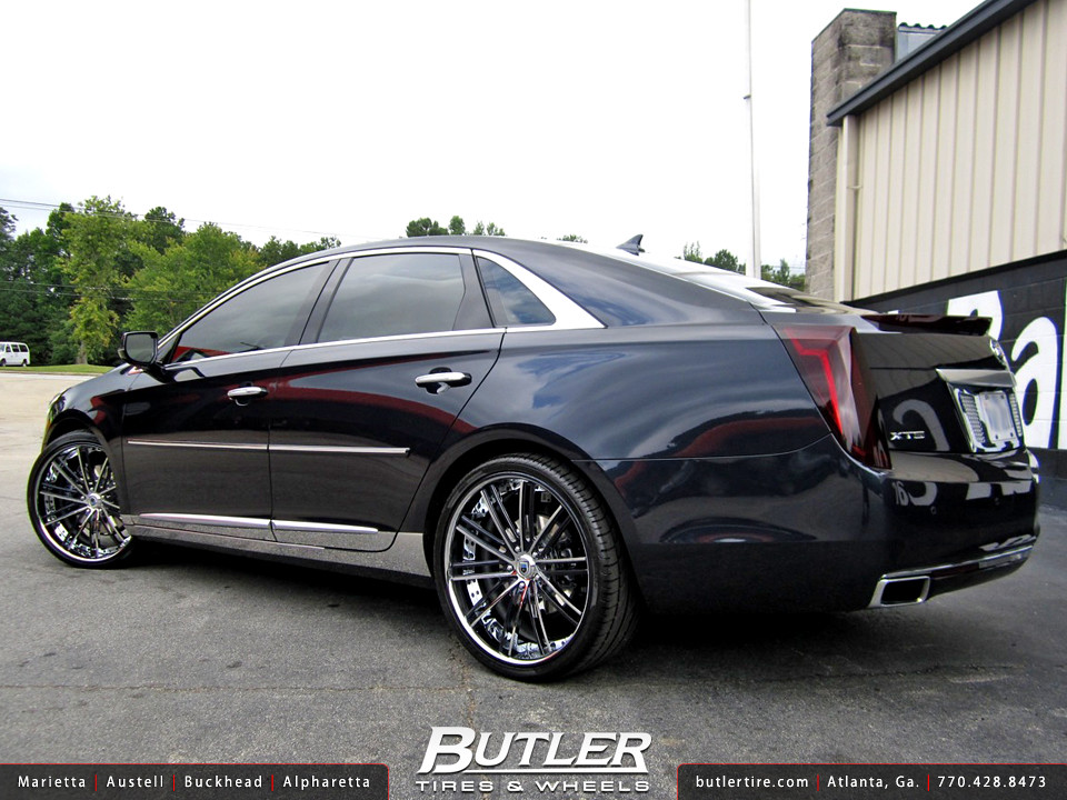 cadillac xts with 22in asanti cx193 wheels additional  20 inch vogue tires