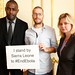 Idris Elba, Will Pooley and former Secretary of State Justine Greening