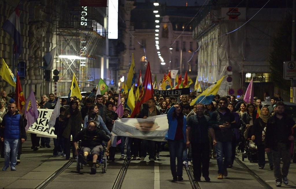 Demo Freitag Wien: Kurdische Demo Für #Kobane In #Wien #isis #is