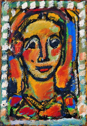 ジョルジュ・ルオー《マドレーヌ》(1956年、パナソニック汐留ミュージアム蔵)