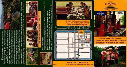 Brochure Thai Farm Cooking School Chiang Mai Thailand 1