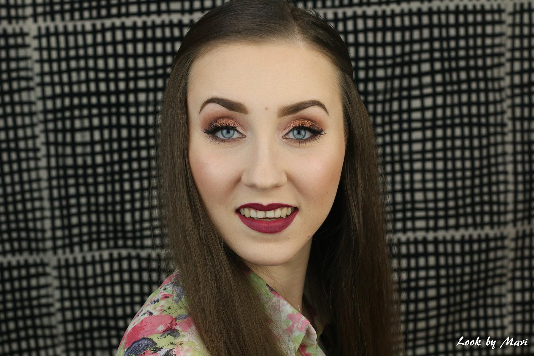 2 warm eye makeup glittery copper ideas tutorial