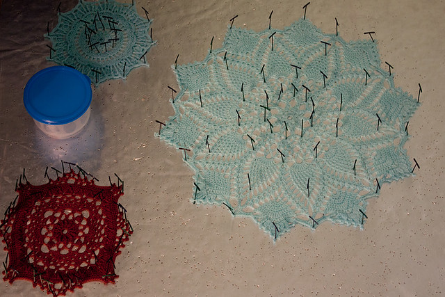 Blocking Doilies