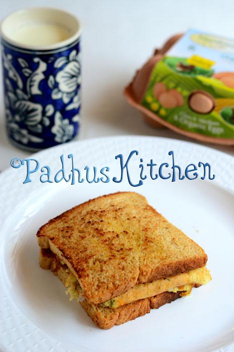 cheesy egg omelette sandwich