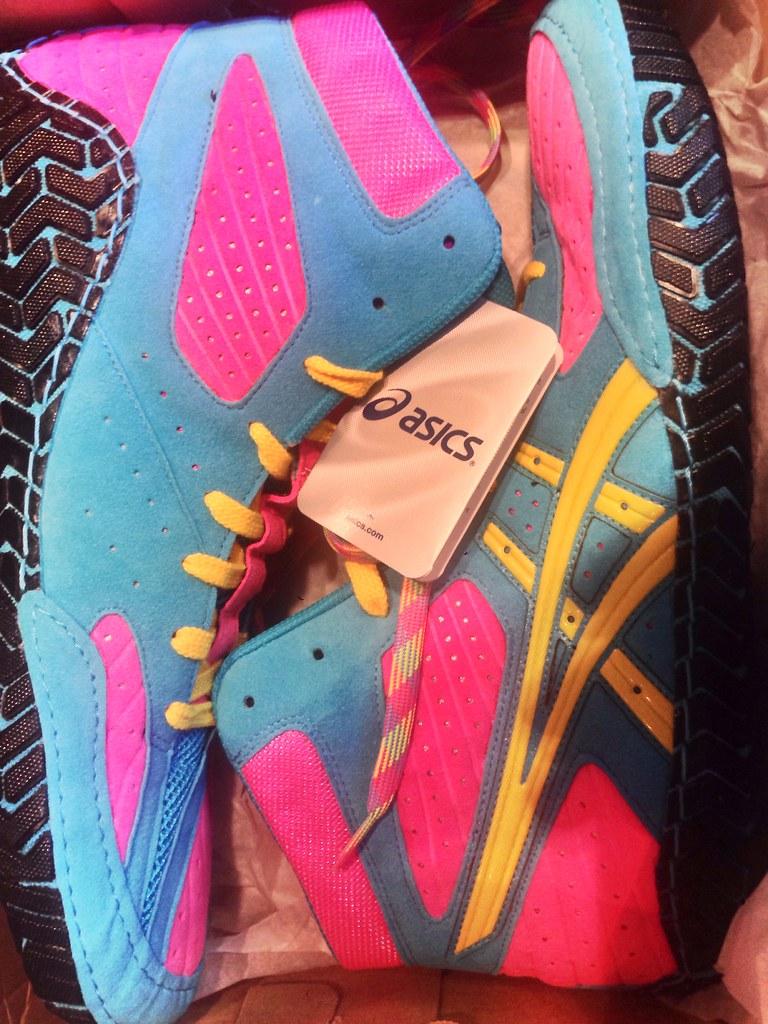 asics aggressor sissy wrestling shoes for sale