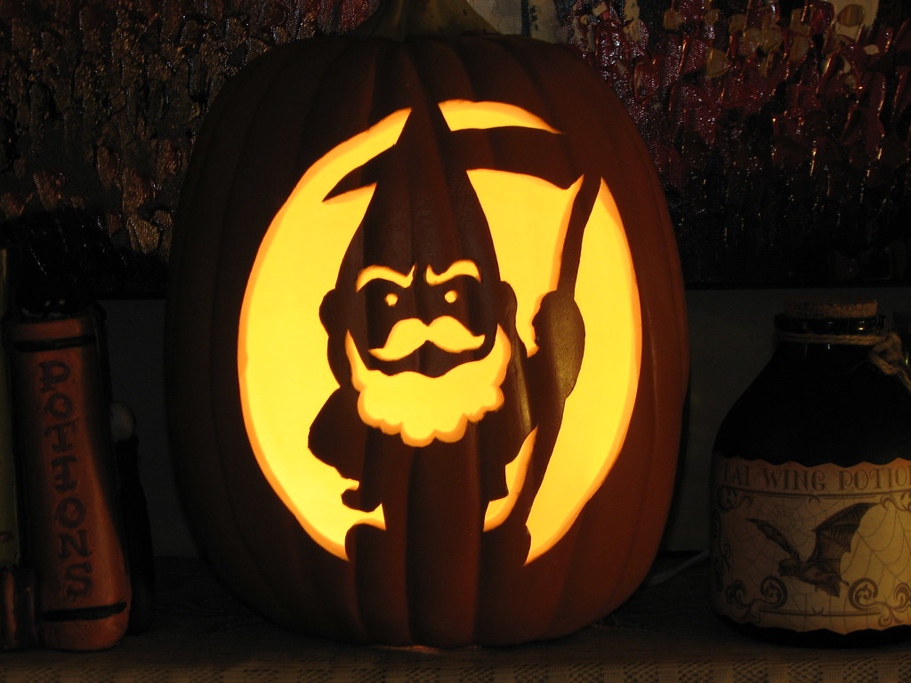 halloween gnome pumpkin carving