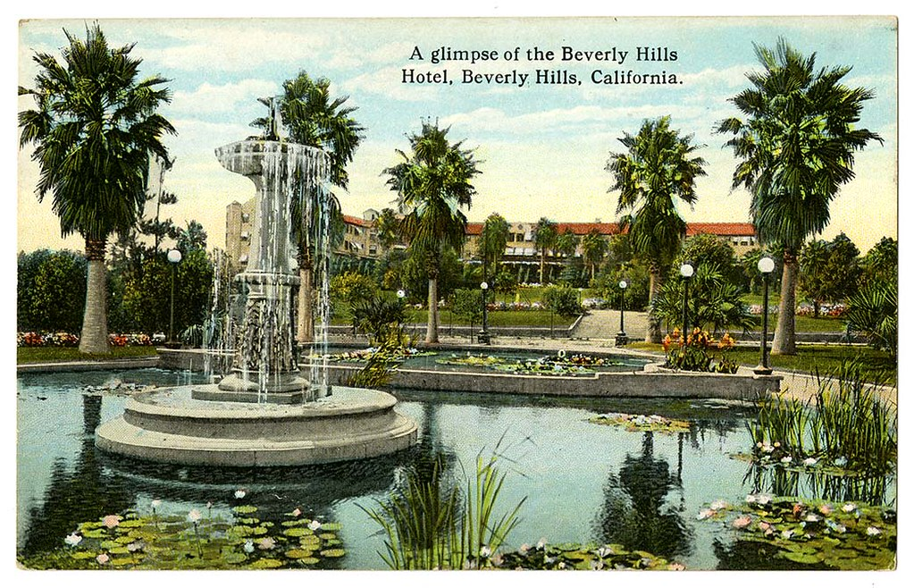 A glimpse of the Beverly Hills Hotel, Beverly Hills, California
