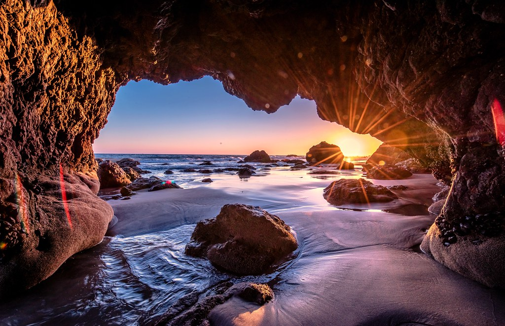 Nikon D810 Hdr Photos Malibu Sea Cave Sunset Dr Elliot M