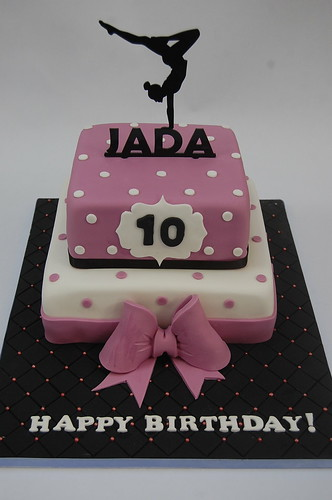 Enjoyable Jadas Gymnastics Cake Beautiful Birthday Cakes Personalised Birthday Cards Bromeletsinfo