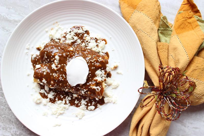 DONA MARIA® Mole Original - Chicken Mole Enchiladas