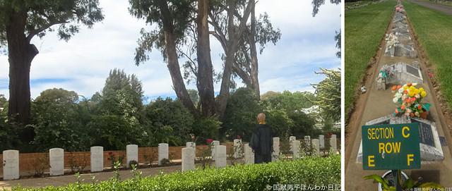 日本人墓地に隣接するオーストラリア兵士と外国人捕虜の墓地(撮影:小島聡子)