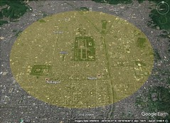 Kyoto 5 kilometer diameter