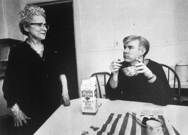 Andy Warhol and his mother