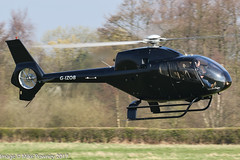 G-IZOB - 2002 build Eurocopter EC120B Colibri, inbound to Barton on Runway 08