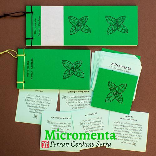 Micromenta, de Ferran Cerdans Serra - Llibres Artesans, 2017