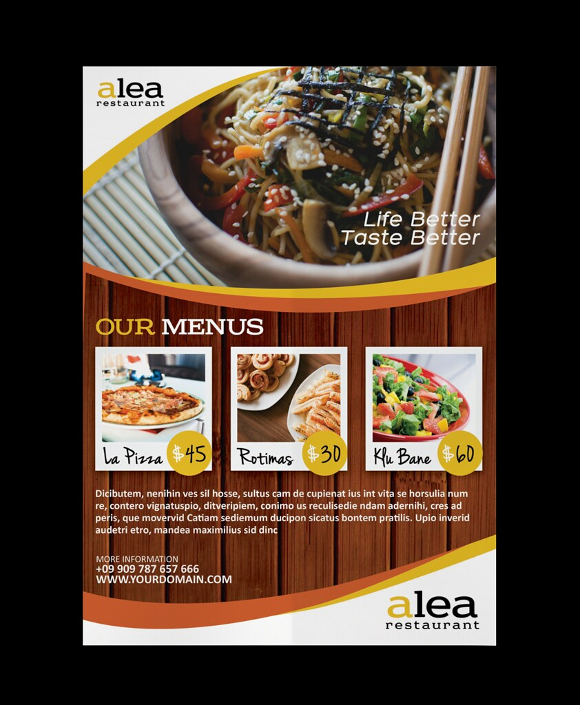restaurant flyer by aliv pandu restaurant flyer by aliv pandu