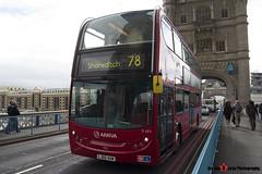 Alexander Dennis Trident Enviro 400 - LJ60 AUW - T171 - Arriva - Tower Bridge London - 140926 - Steven Gray - IMG_9997