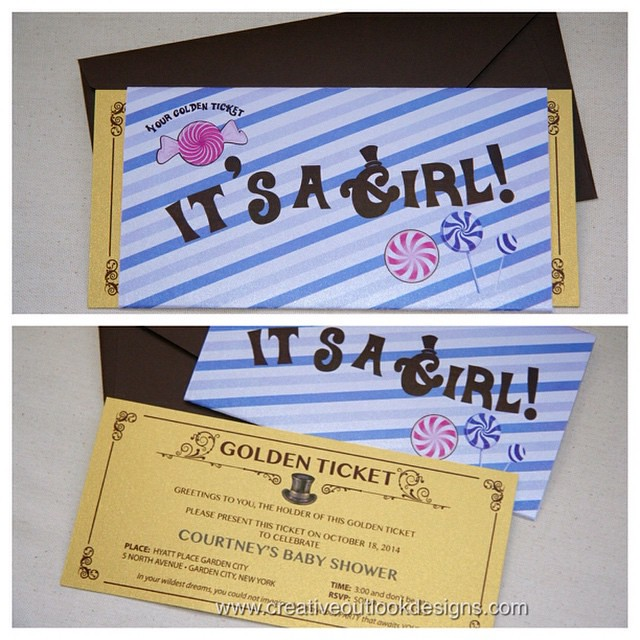 Willy Wonka inspired baby shower invitation ny desi Flickr
