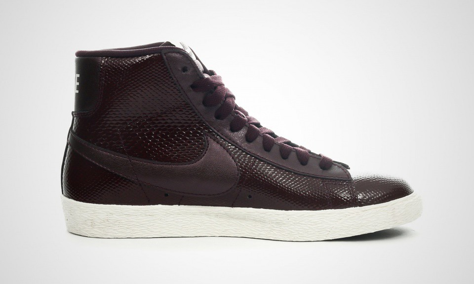 ... Nike women's Blazer mid premium leather in burgundy_ image via  43einhalb | by Kate Wirth