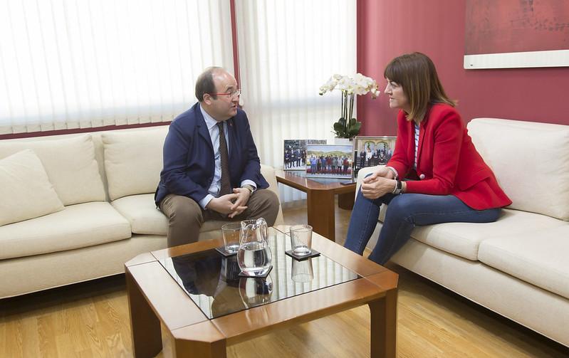 Rueda de prensa de Miquel Iceta e Idoia Mendia