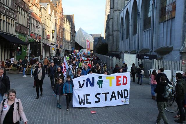 Betoging tegen Francken in Gent // Jean-Marie Versyp