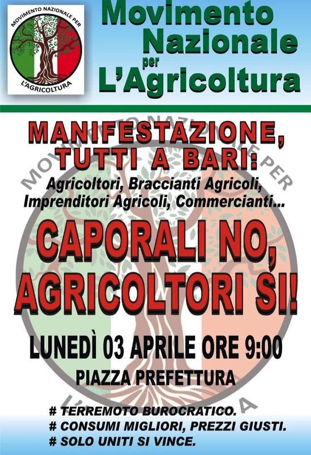 Noicattaro. Manifestazione agricoltori intero