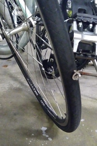 Earring Flattens Bike Tire