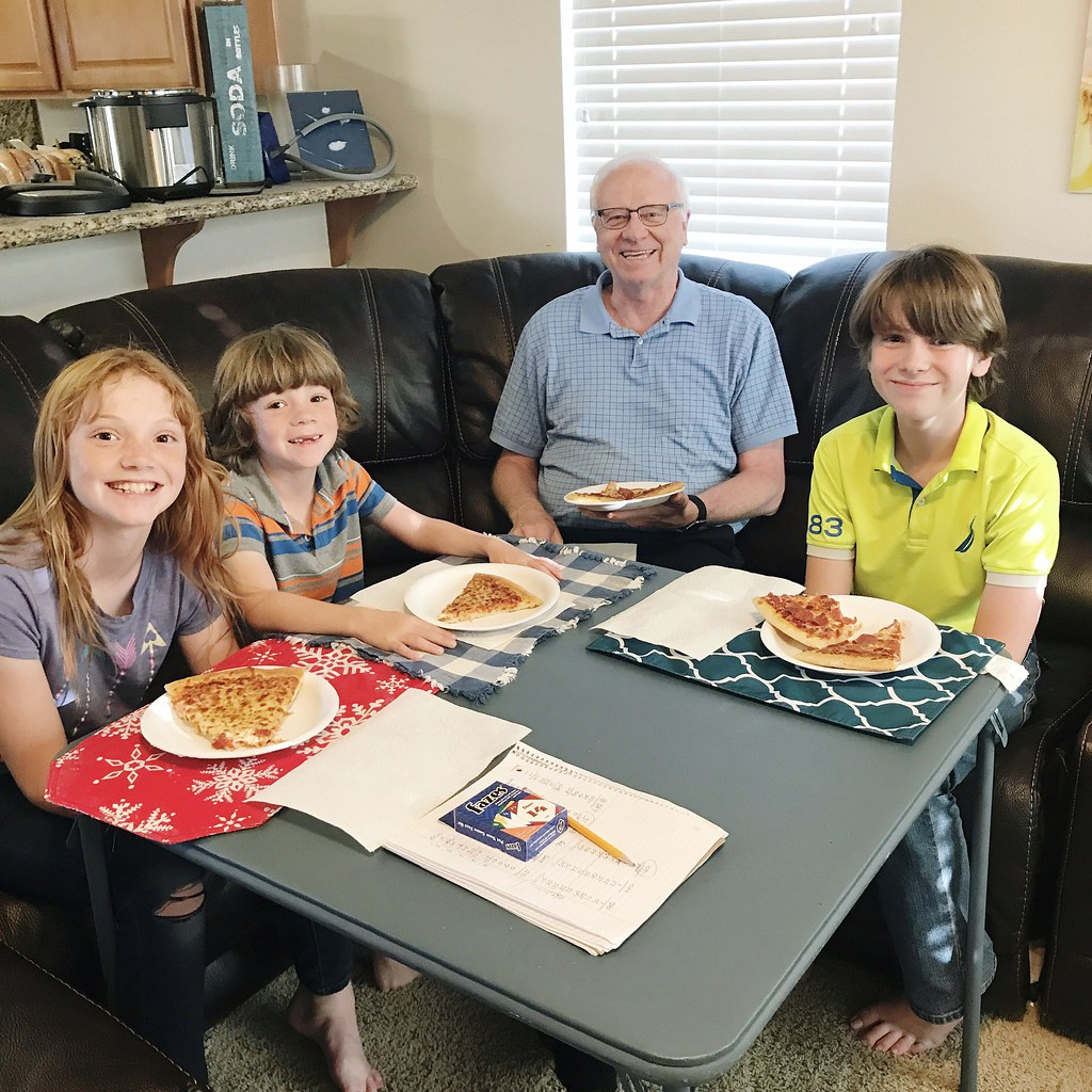 Pizza with Grandpa