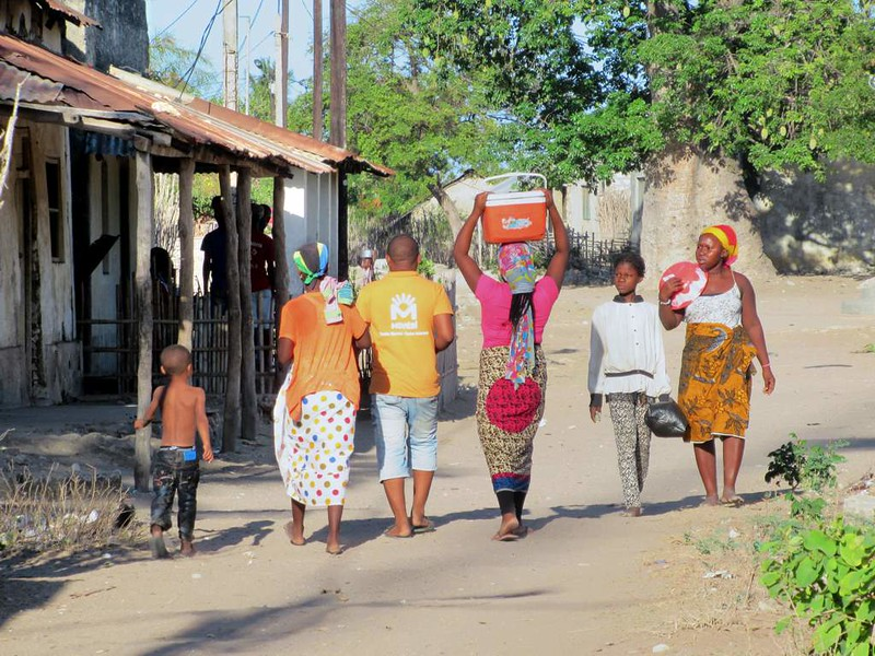 Locals out for a stroll on Ibo Island, Mozambique.