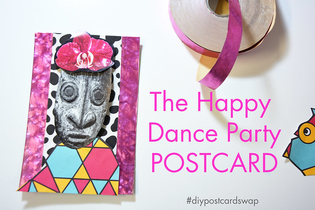 Happy Mail: Postcard Dance Party by iHanna #diypostcardswap #happymail