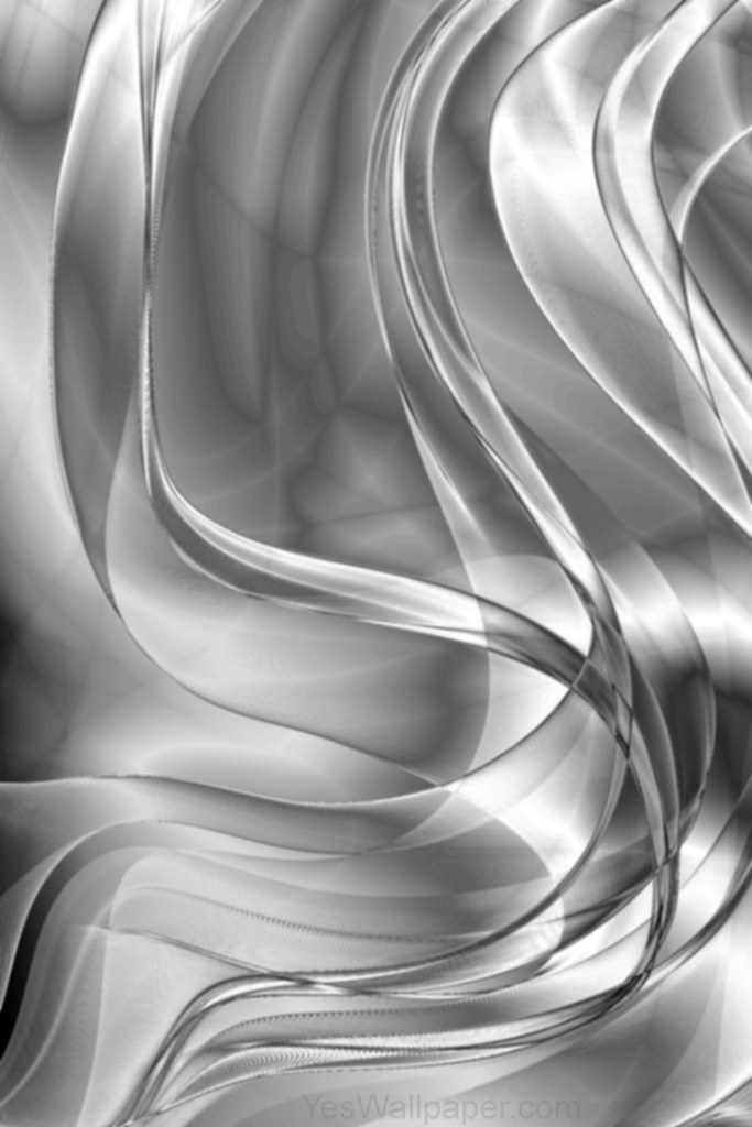 Silver elegant phone tablet wallpaper design www for Black and silver 3d wallpaper
