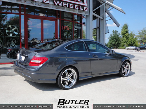 Mercedes C350 Coupe With 19in Mandrus Mannheim Wheels Flickr