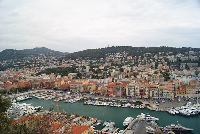 1409 france 082 port of nice from the colline du ch teau o - Parking port nice ...