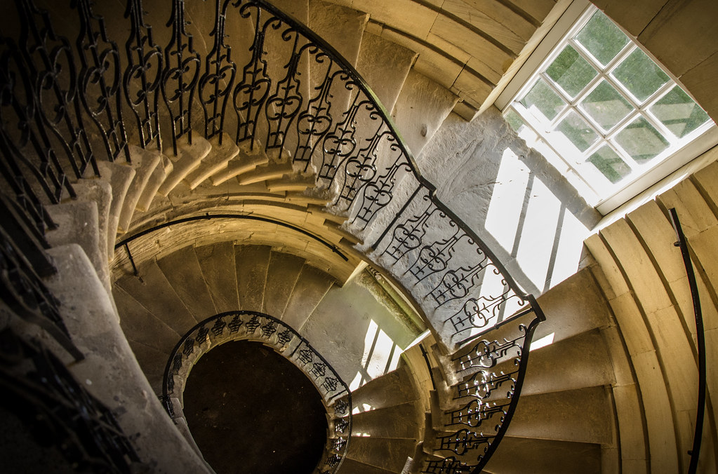 Spiral staircase seaton delaval hall northumberland flickr for Square spiral staircase plans hall