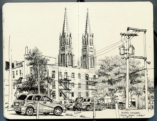 Denver Cathedral, seen from Grant Street | by paul heaston
