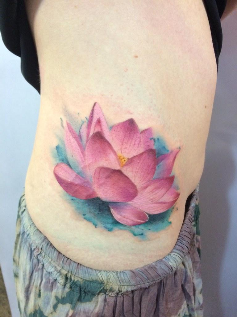 Pink Lotus By Som Kaleidoscope Tattoo Flickr