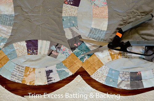 1. Trim excess batting and backing.