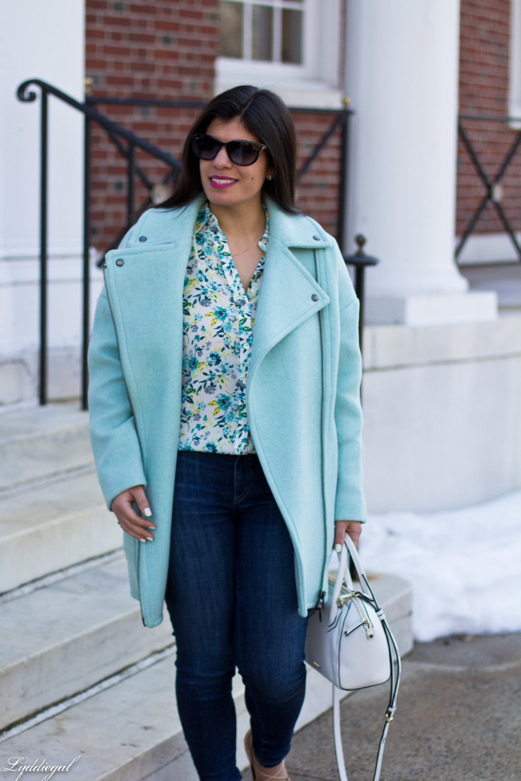 mint green cocoon coat, floral blouse, lace up flats, spring outfit-5.jpg