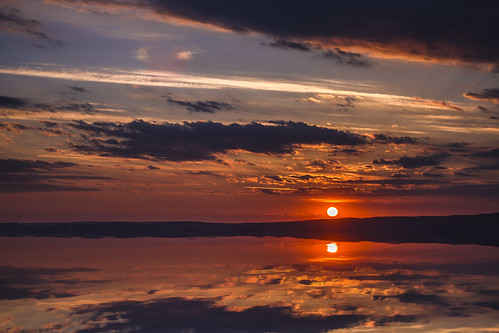 impressive sunset